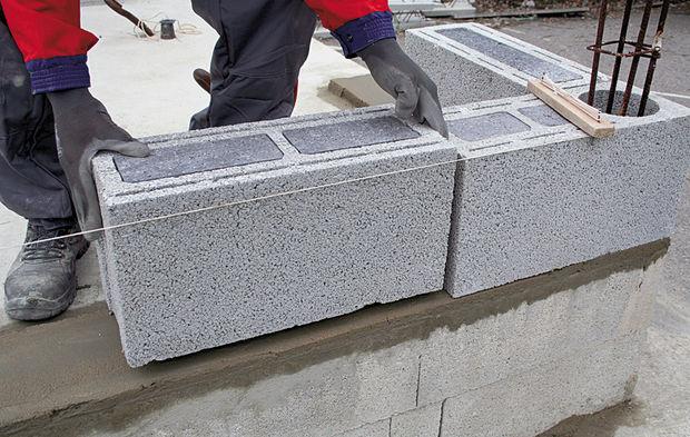 Isolation en blocs de béton