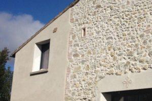 restauration façade pierre/briquette